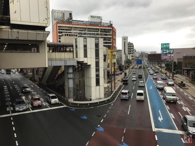 三萩野交差点からの風景