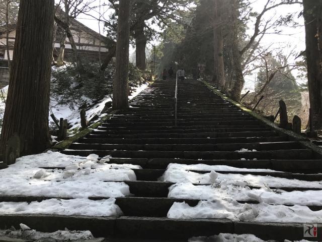 大山寺の階段