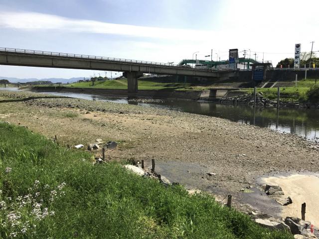 彦山川河川敷