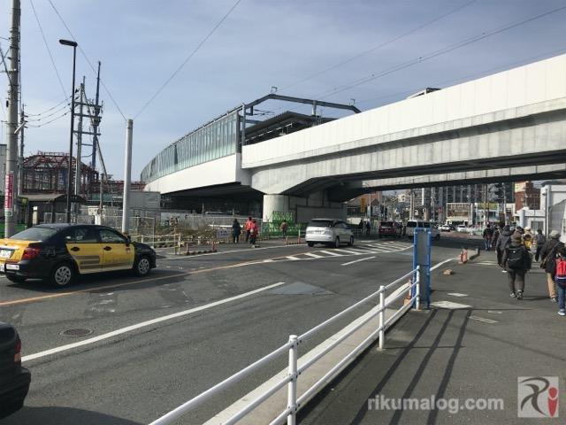 新しい高架線路