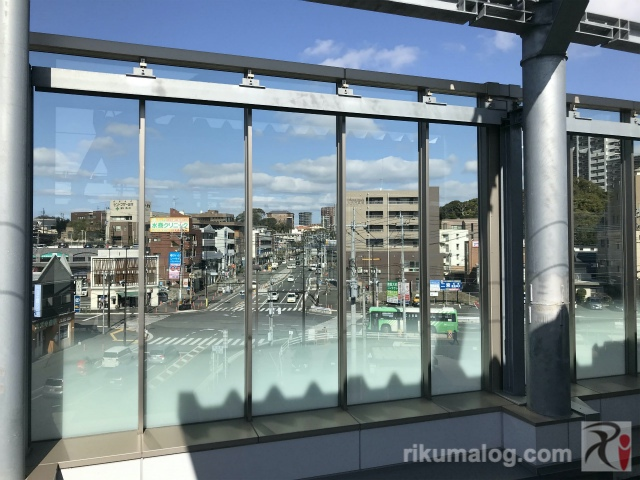 折尾駅北側の風景