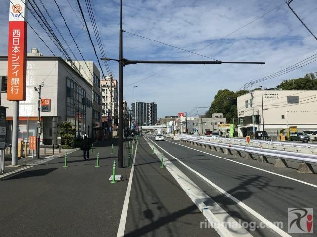 西日本シティ銀行折尾支店付近
