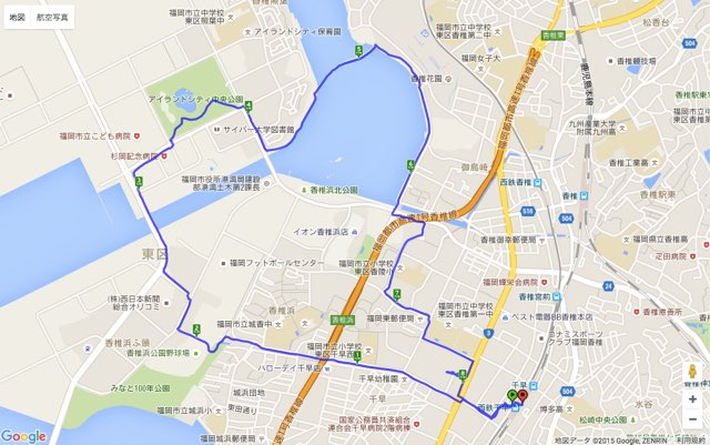 Walk千早コースマップ