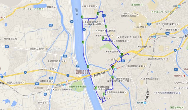 Walk水巻コースマップ