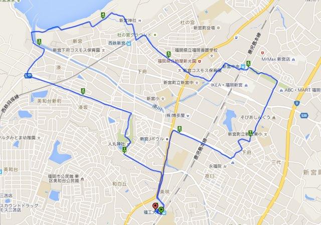 Walk福工大前コースマップ
