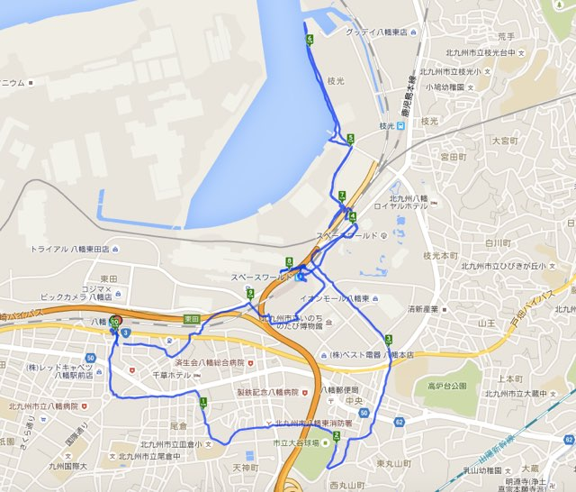 Walk八幡コースマップ