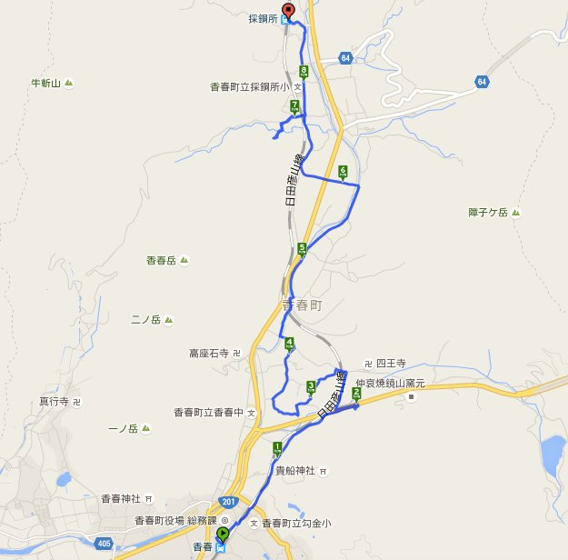 Walk香春コースマップ
