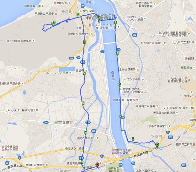 Walk遠賀川コースマップ