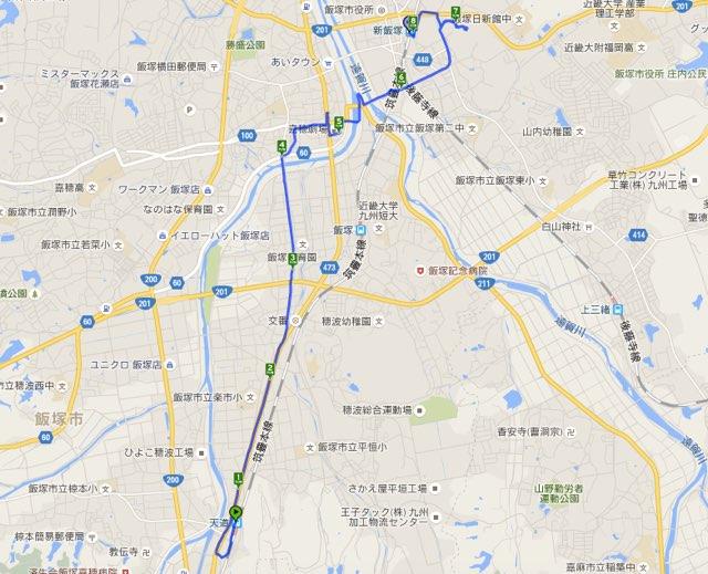 Walk天道コースマップ