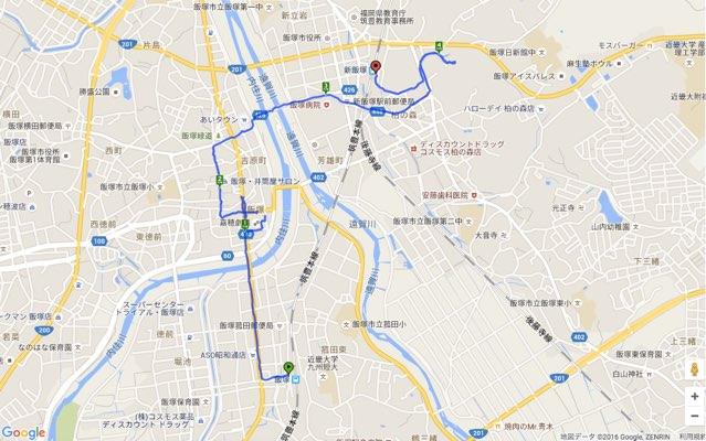 Walk飯塚コースマップ