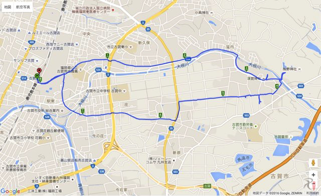 Walk古賀コースマップ