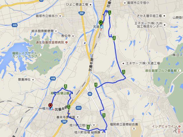 Walk桂川コースマップ