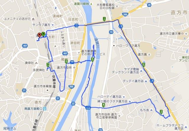 Walk直方コースマップ