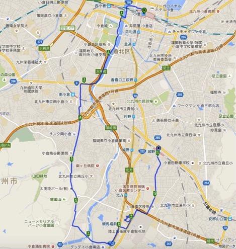 Walk小倉コースマップ